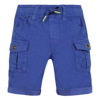 Baby boy's Klein blue twill multi-pocket Bermuda shorts