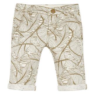 CATIMINI Boy's beige printed denim Bermuda shorts