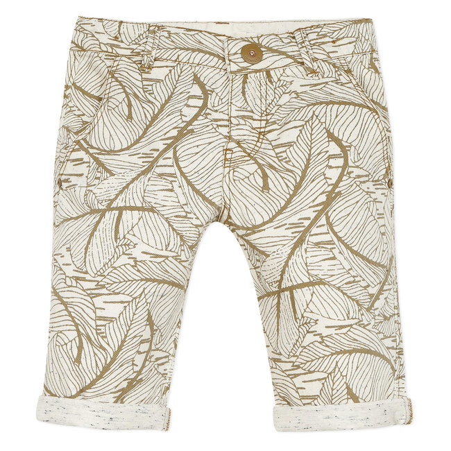 CATIMINI Boy's beige printed denim Bermuda shorts
