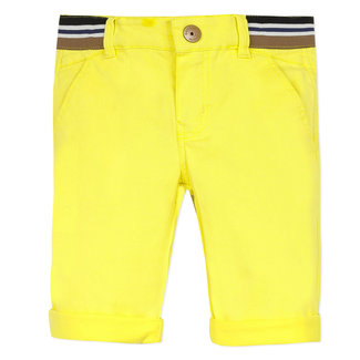 Boy's sunny yellow gabardine Bermuda shorts