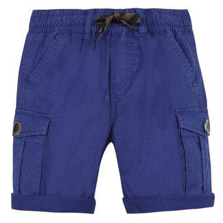 Boy's majorelle blue gabardine Bermuda shorts