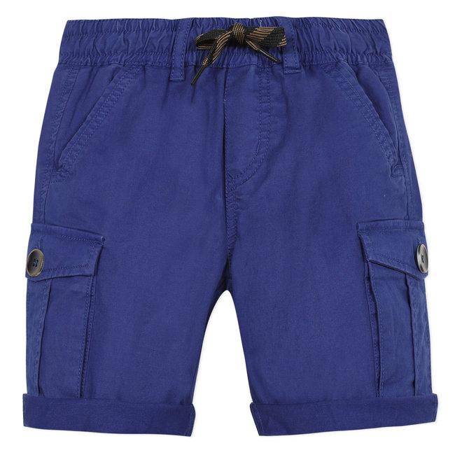 CATIMINI Boy's majorelle blue gabardine Bermuda shorts