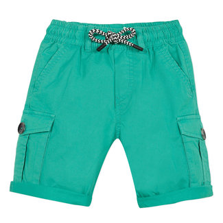 Boy's celadon green gabardine Bermuda shorts