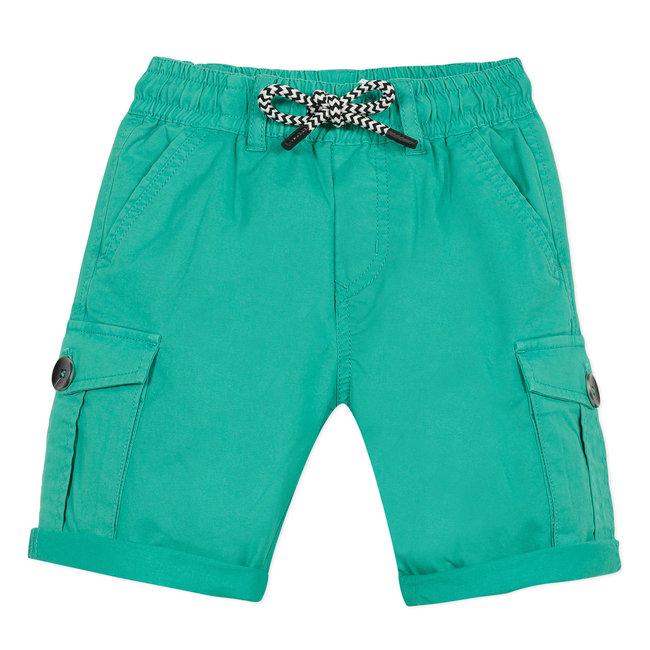 CATIMINI Boy's celadon green gabardine Bermuda shorts