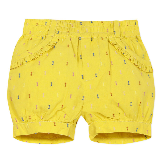 Baby girl's multicoloured dotted Swiss bubble shorts