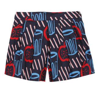 CATIMINI Girl's printed voile skirt-shorts