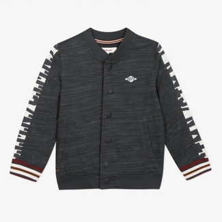 Boy's striped effect fleece teddy jacket