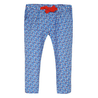 Girl's printed viscose trousers