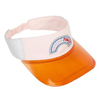 Girl's open cap with transparent peak