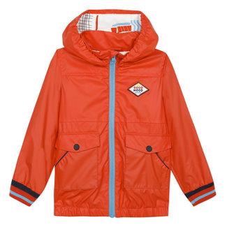 CATIMINI Boy's orange rubber blouson jacket