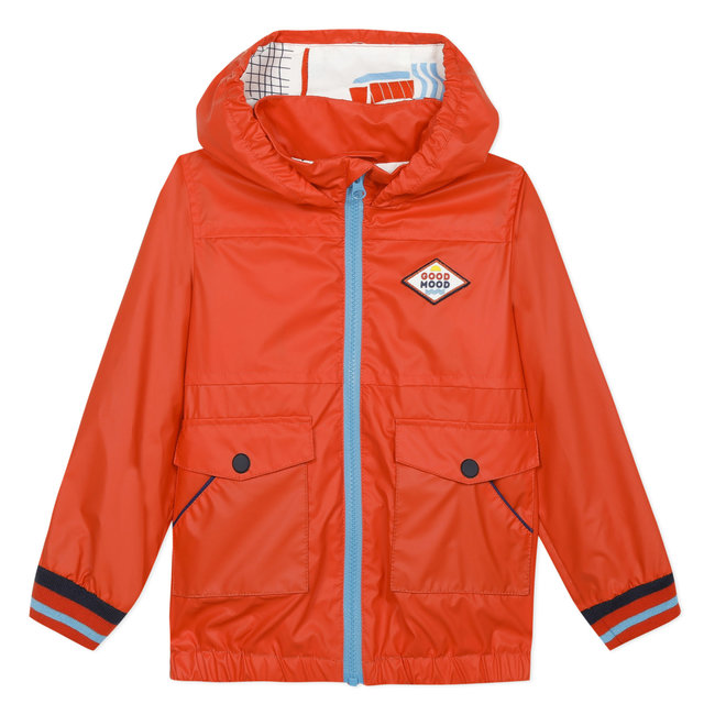 Boy's orange rubber blouson jacket