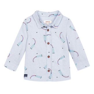 CATIMINI Baby boy's pick and pick printed shirt
