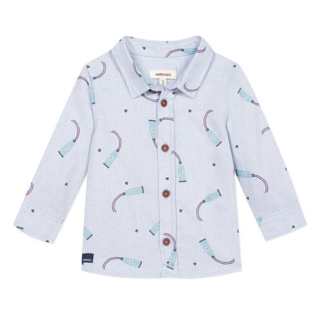 Baby boy's pick and pick printed shirt