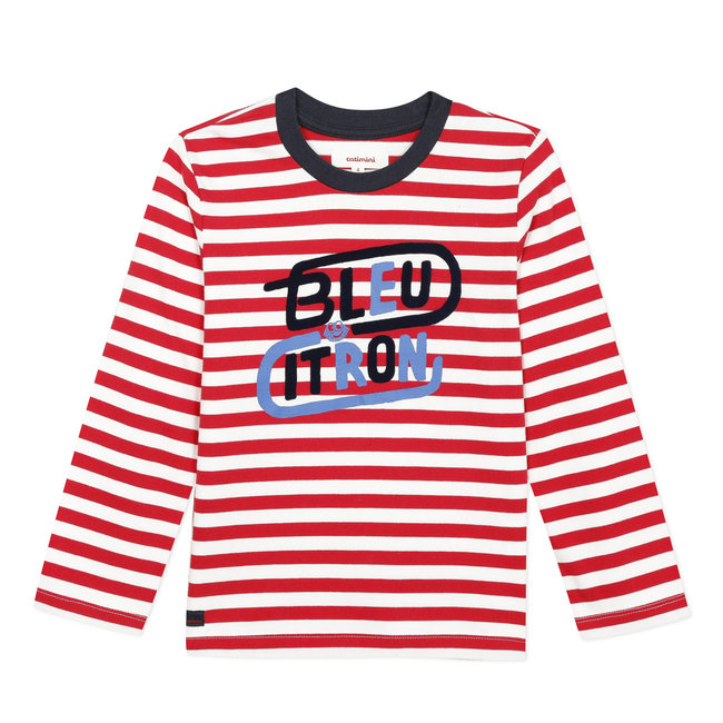 Boy's striped T-shirt with print