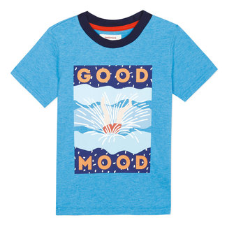 Boy's T-shirt with aquatic motif