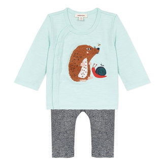 Baby boy's jersey T-shirt and terry trousers