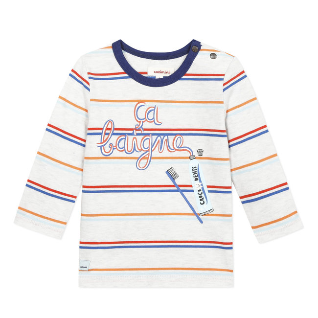 CATIMINI Baby boy's T-shirt with striped print