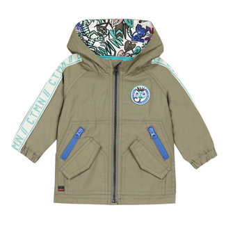 Baby boy's coated parka with hood