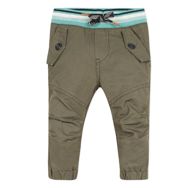 Baby boy's khaki twill neo-joggers