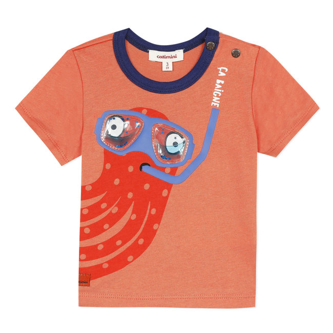 Baby boy's T-shirt with 3D printed motif