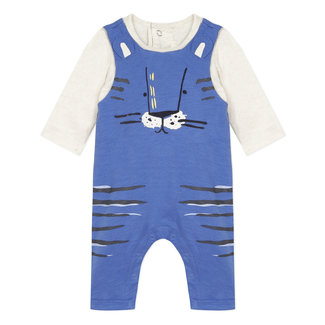 Faux 2-in-1 jersey dungarees for baby boys