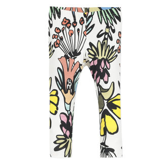 Girl's floral print stretch jersey leggings