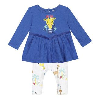 CATIMINI Baby girl's crepe jersey T-shirt and leggings