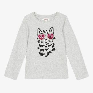 CATIMINI Girls' fun slub jersey T-shirt