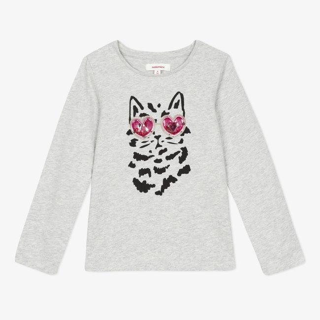 CATIMINI Girls' fun slub jersey T-shirt