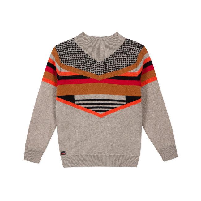 Boys' knit jacquard jumper