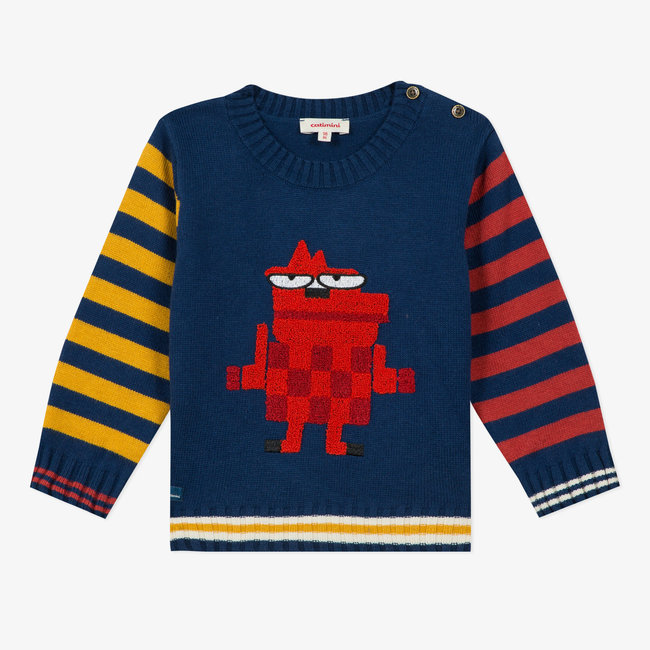 Baby boys' multicoloured knitted sweater