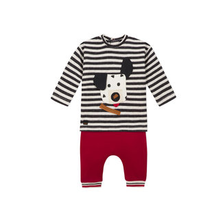 CATIMINI Baby boys striped knit T-shirt and jersey trousers