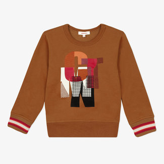 Boy's fleece motif sweatshirt