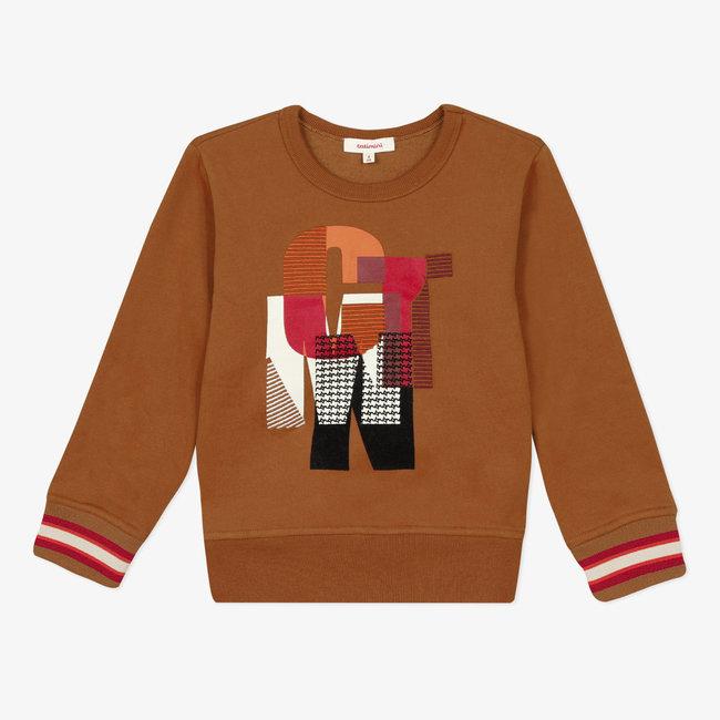 Boy's fleece motif sweatshirt