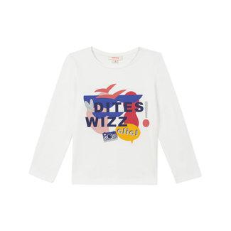 Girl's motif jersey T-shirt