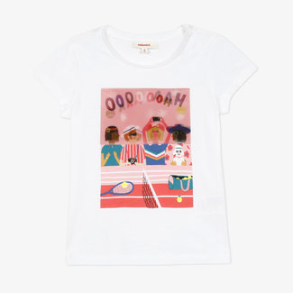 Little girls' jersey T-shirt with optical visual