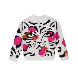 Girl's knitted jacquard jumper