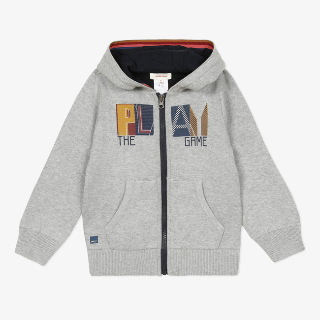 Boys' knitted hooded cardigan
