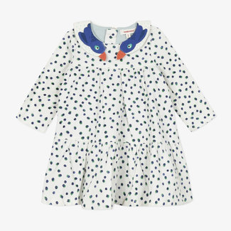 Baby girls' printed fine-ribbed velvet dress