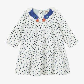 CATIMINI Baby girls' printed fine-ribbed velvet dress