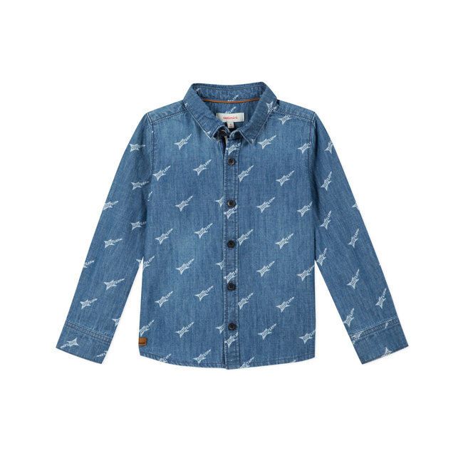 CATIMINI Boy's printed denim shirt