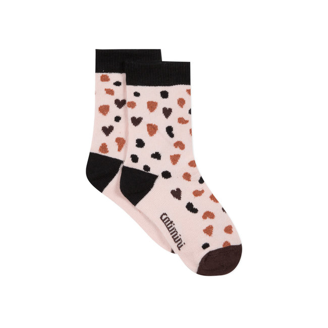 Girls' brilliant jacquard socks
