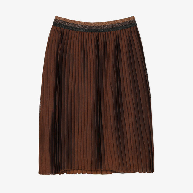 Long iridescent pleated skirt for girls