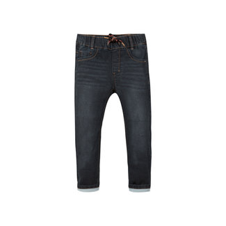 Boy's knit black denim jeans
