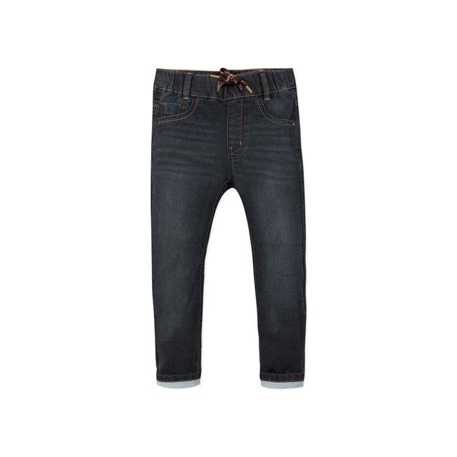 Boy's knit black denim jeans
