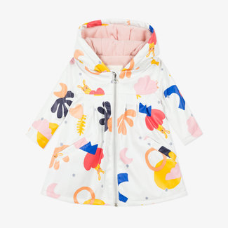 Baby girl's printed rubber parka