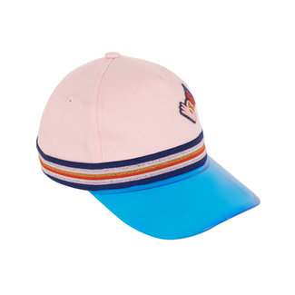 Girls' fabric cap with plexiglass peak
