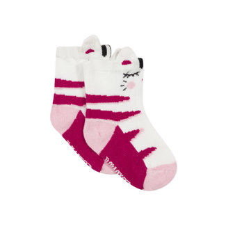 CATIMINI Baby girls' jacquard socks cat