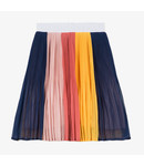 Girl's multicoloured pleated patch skirt