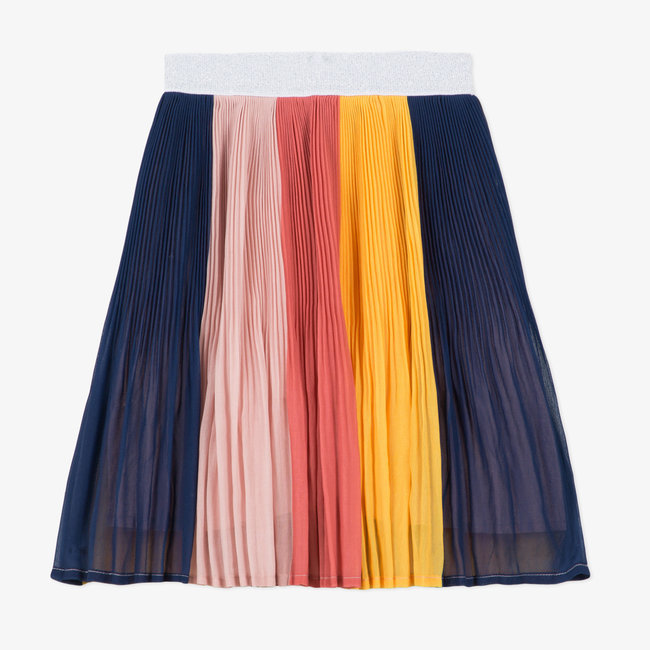 CATIMINI Girl's multicoloured pleated patch skirt
